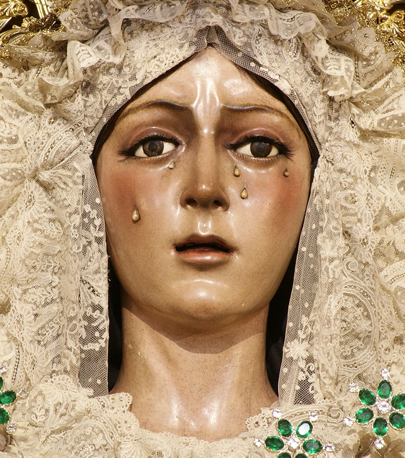 La statue de la Vierge de la Esperanza Macarena de Séville - Photo de Manuel Francisco Álvarez Ruiz