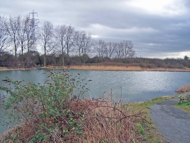 Fishing pond in Church Marshes Country Park - geograph.org.uk - 710821