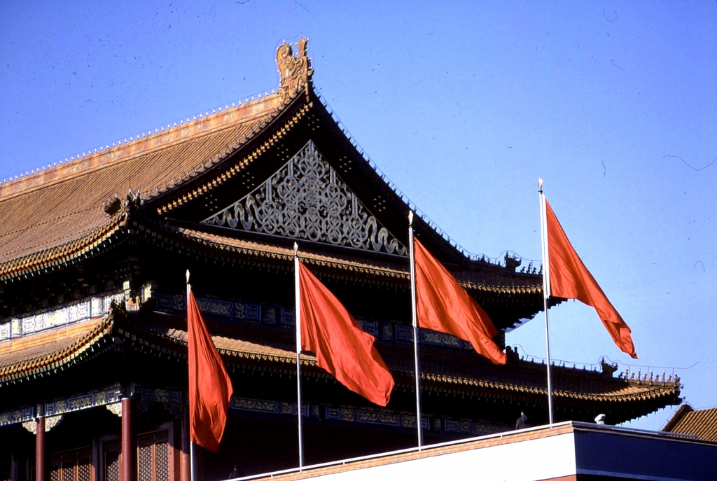 A close-up of the rooftop