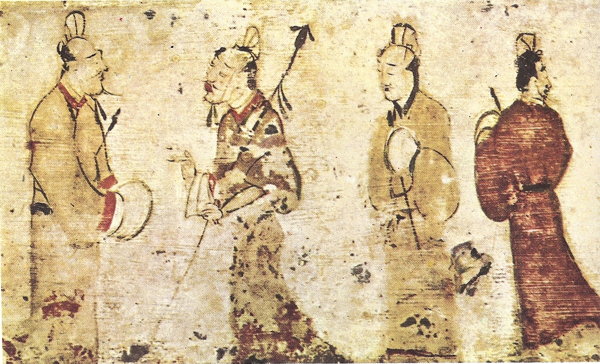 File gentlemen in conversation eastern han for Chinese mural art
