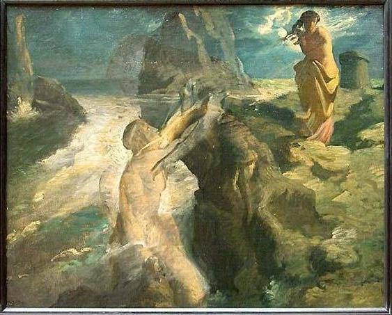 """Théodore Chassériau """"Héro et Léandre"""" 1856"""