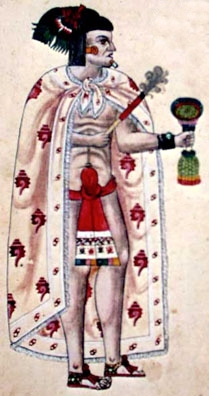 Ixtlilxochitl Ier (recto du folio 107 du Codex Ixtlilxochitl).