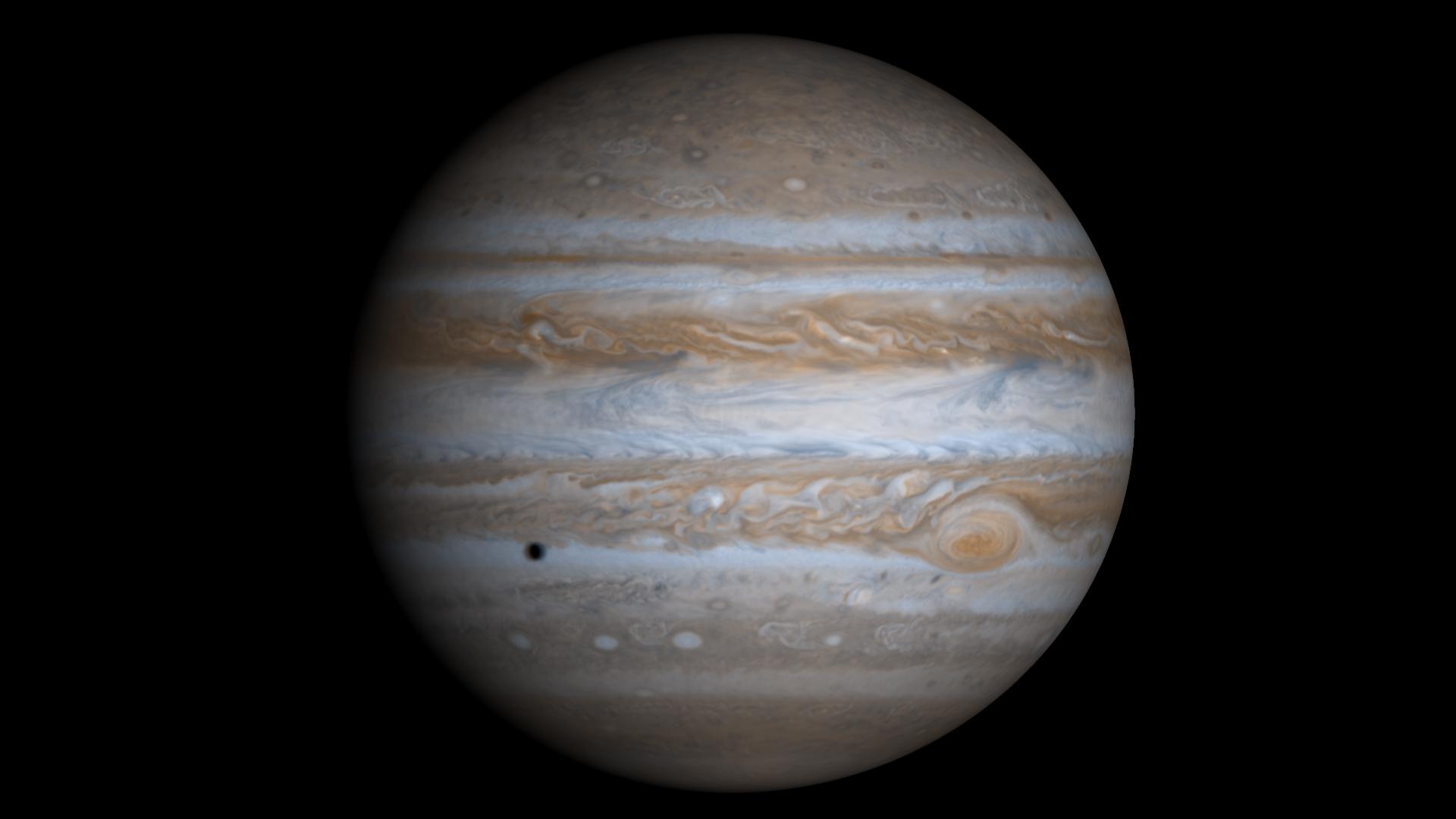 Изображение Юпитера, созданное Кассини