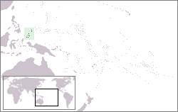 Location of Palau