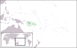 Location of the Solomon Islands