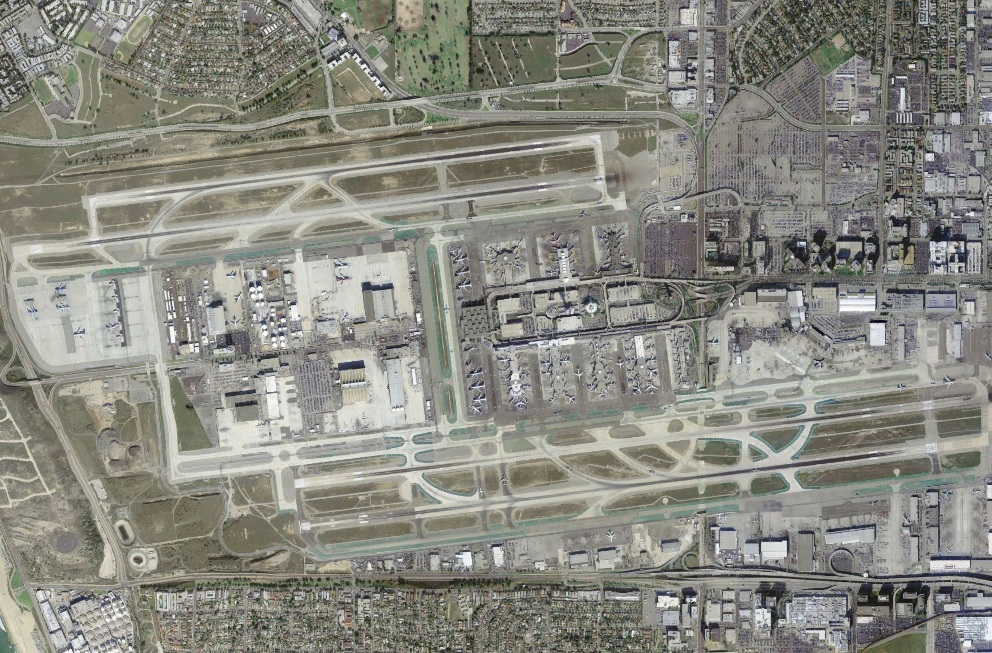 File Los Angeles International Airport Satellite View Png