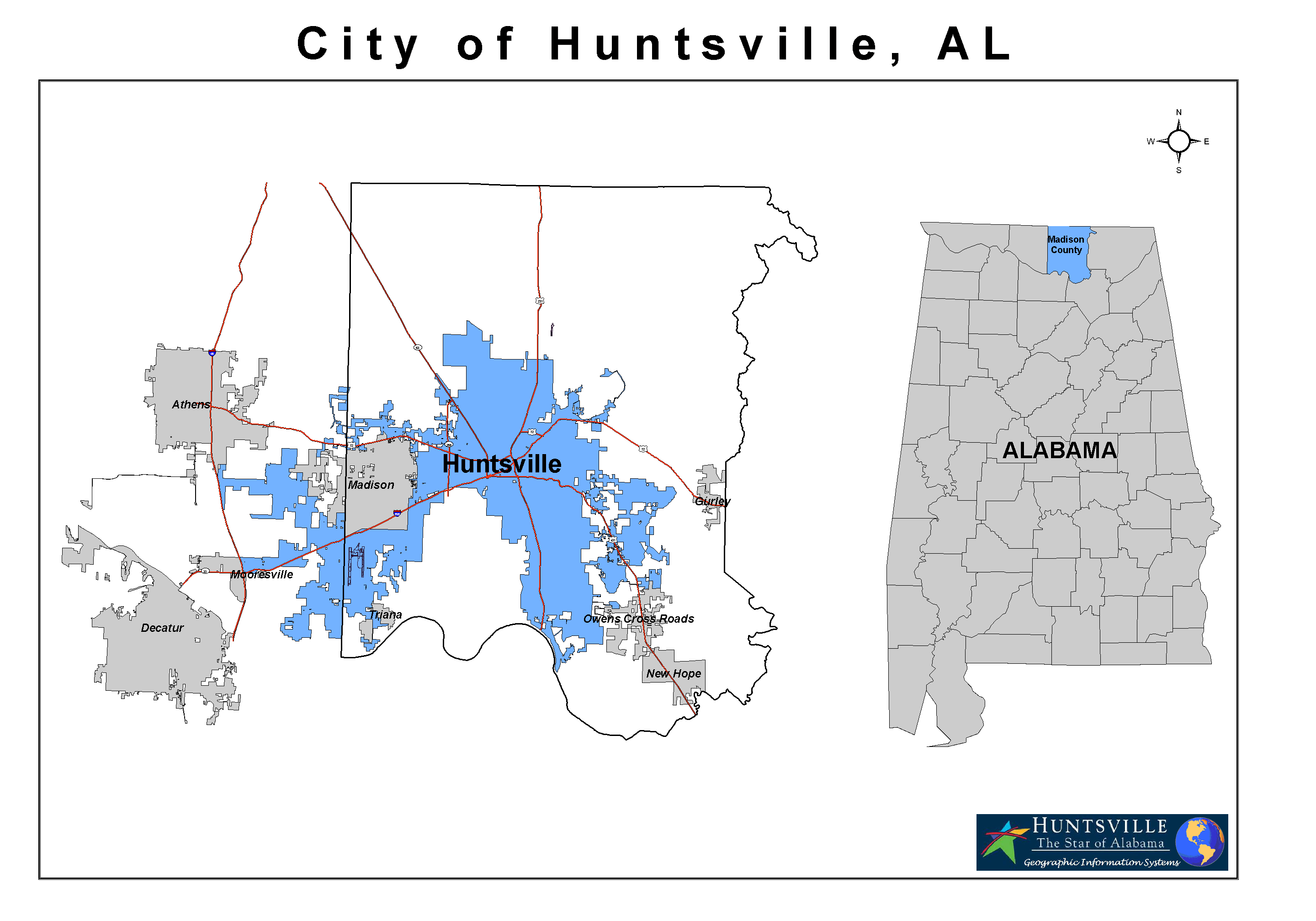 Alabama limestone county capshaw - Madison County Alabama With Current Huntsville Corporate Limits Highlighted In Blue Png