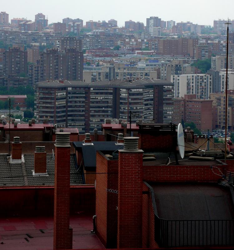 Vista del distrito de Moratalaz y sus barrios donde se ofrece el servicio de logopedia a domicilio