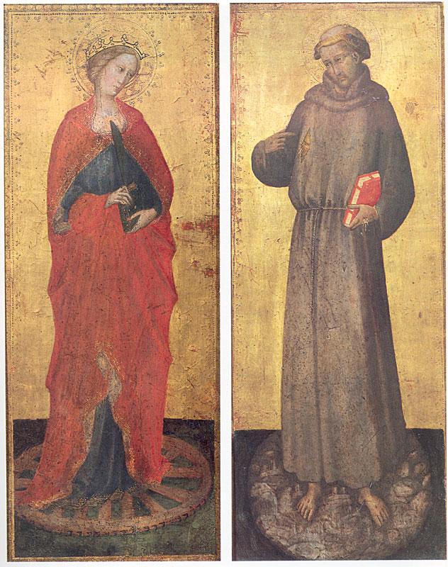 Maestro della madonna strauss, santi francesco e caterina.jpg