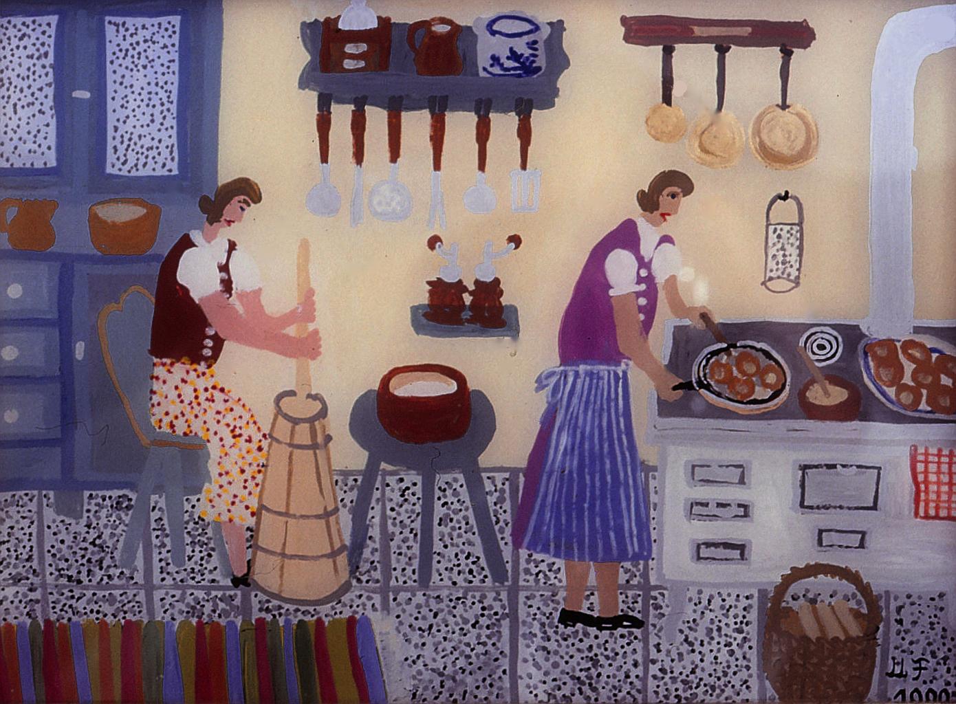 File:Maria Felder, Küchenarbeit, KSK RV.jpg - Wikimedia Commons