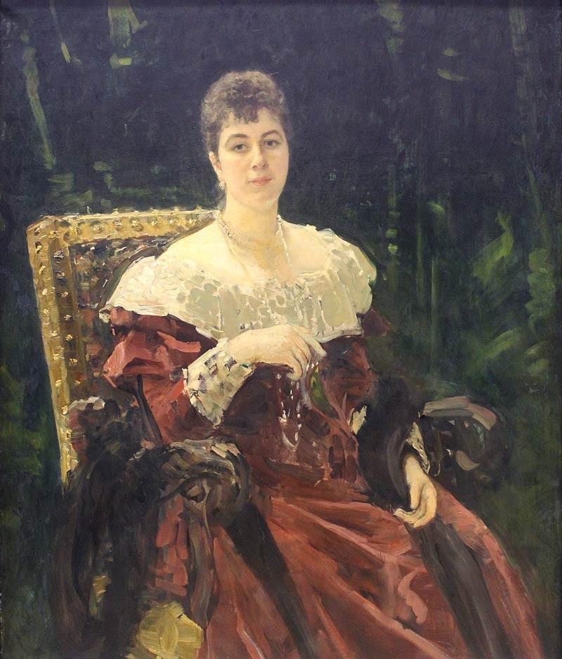 Мария Тенишева - И. Репин (1892-1893, Белорусский музей) .jpg
