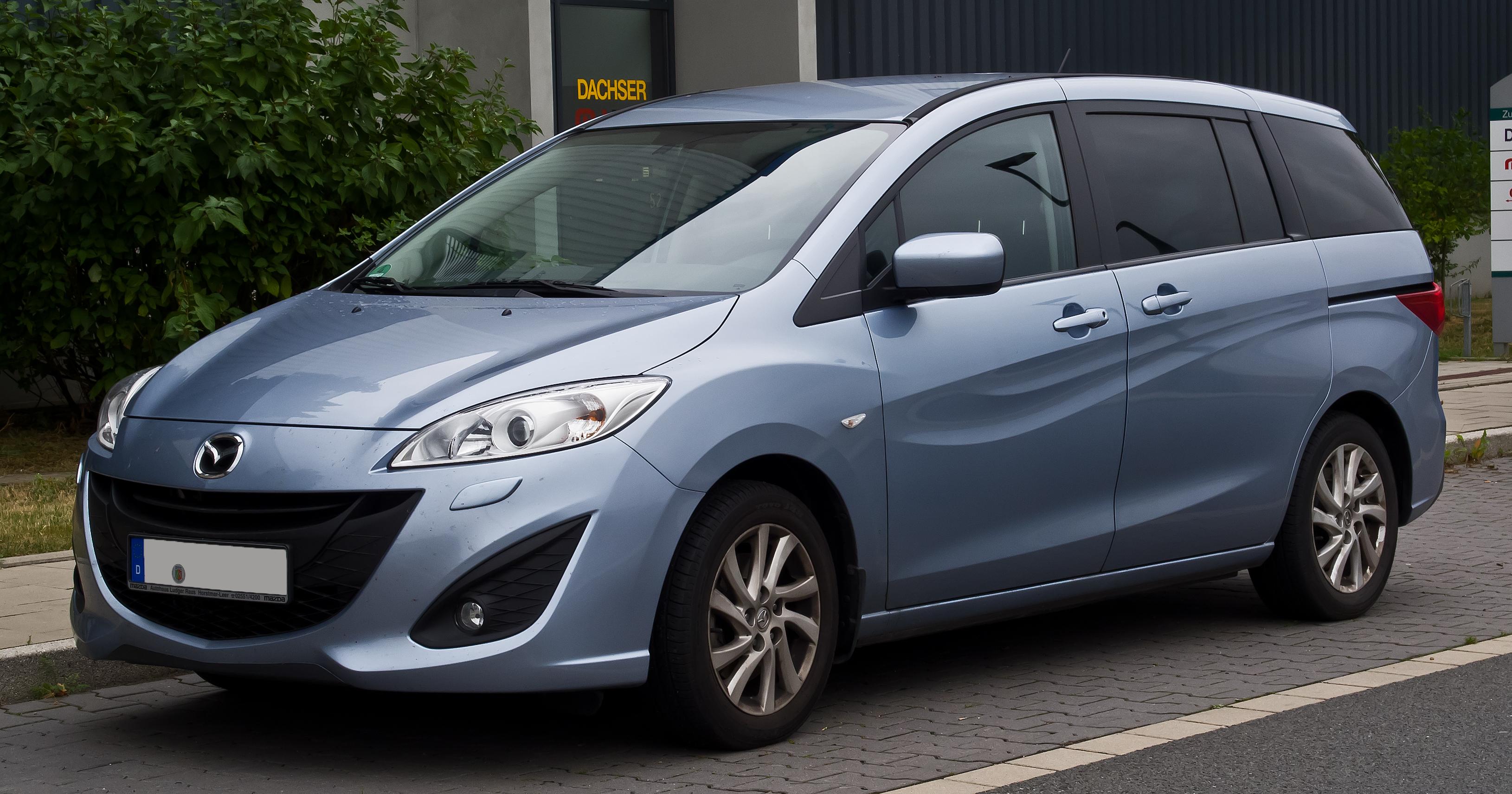 File:Mazda5 (II) – Frontansicht, 25. August 2013, Düsseldorf.jpg - Wikimedia Commons