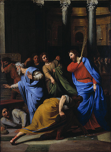 Nicolas Colombel - Christ Expelling the Money-Changers from the Temple