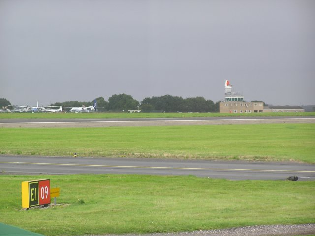 Norwich Airport tower and adjacent air museum - geograph.org.uk - 40515
