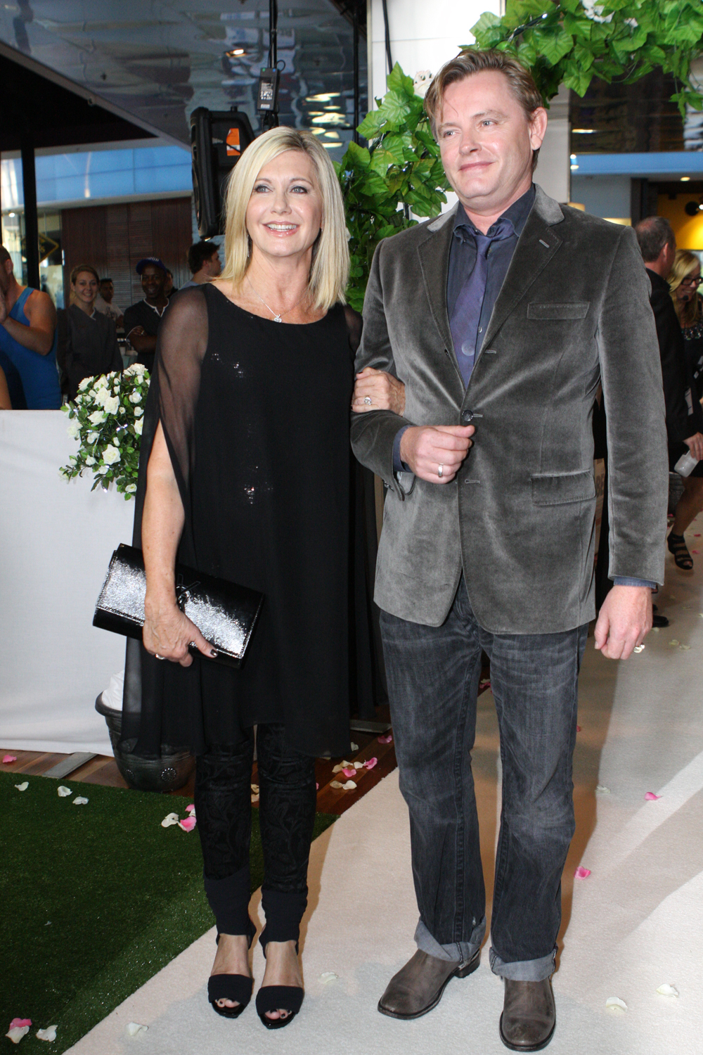 Olivia Newton John Family Olivia Newton-john And Stephan