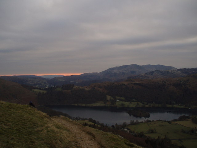Path from Alcock Tarn above Grasmere - geograph.org.uk - 1222070
