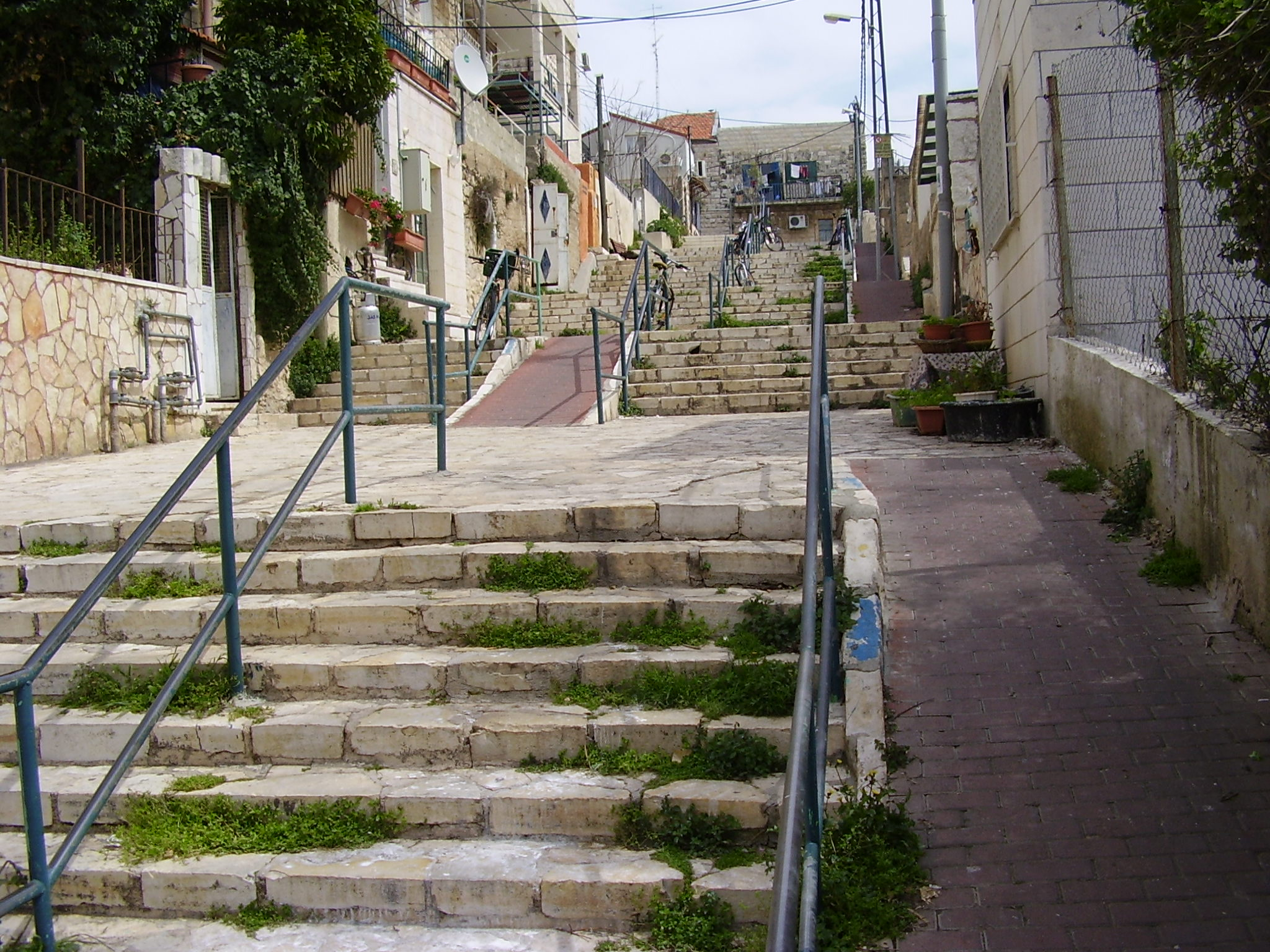 Street of the Stairs in Nachalat Achim