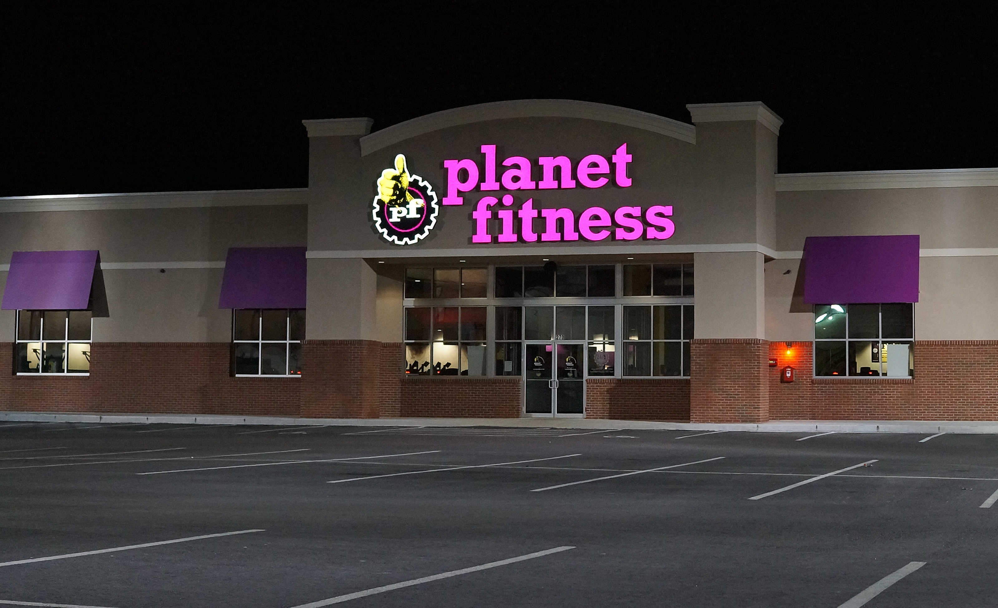 Intimidating body planet fitness