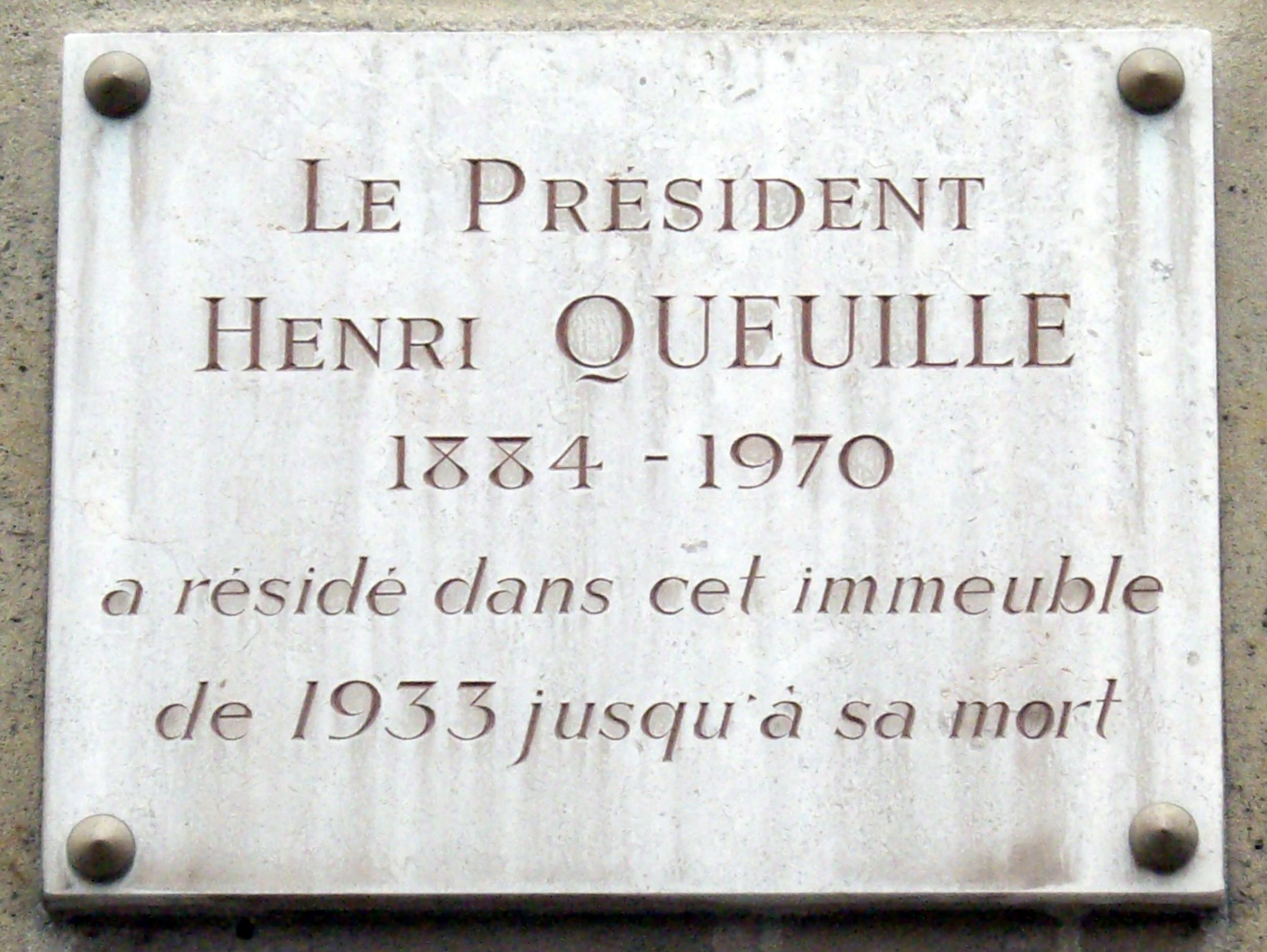 23 Rue Du Cherche Midi fichier:plaque henri queuille, 100 rue du cherche-midi