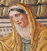 Pudentiana, detail of a mosaic in Santa Pudenziana.jpg