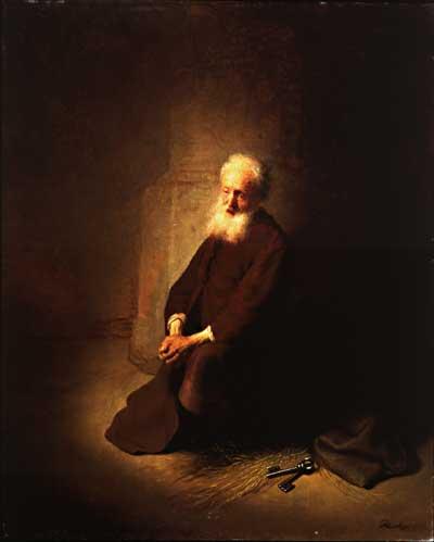 """File:Rembrandt van Rijn """"Petrus in de gevangenis"""" (St. Peter in prison).jpg"""
