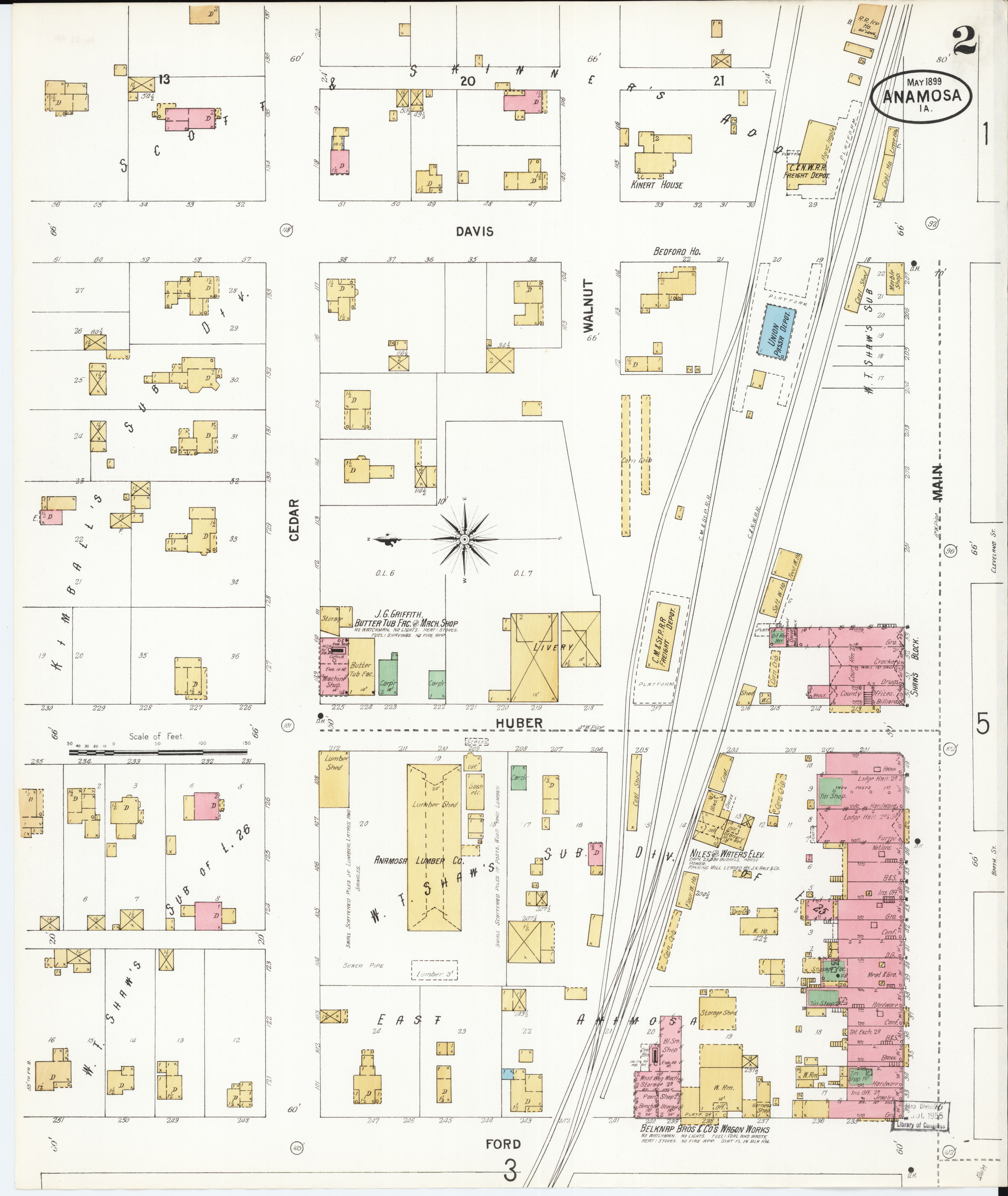 County Line 2 Fire Map.File Sanborn Fire Insurance Map From Anamosa Jones County Iowa
