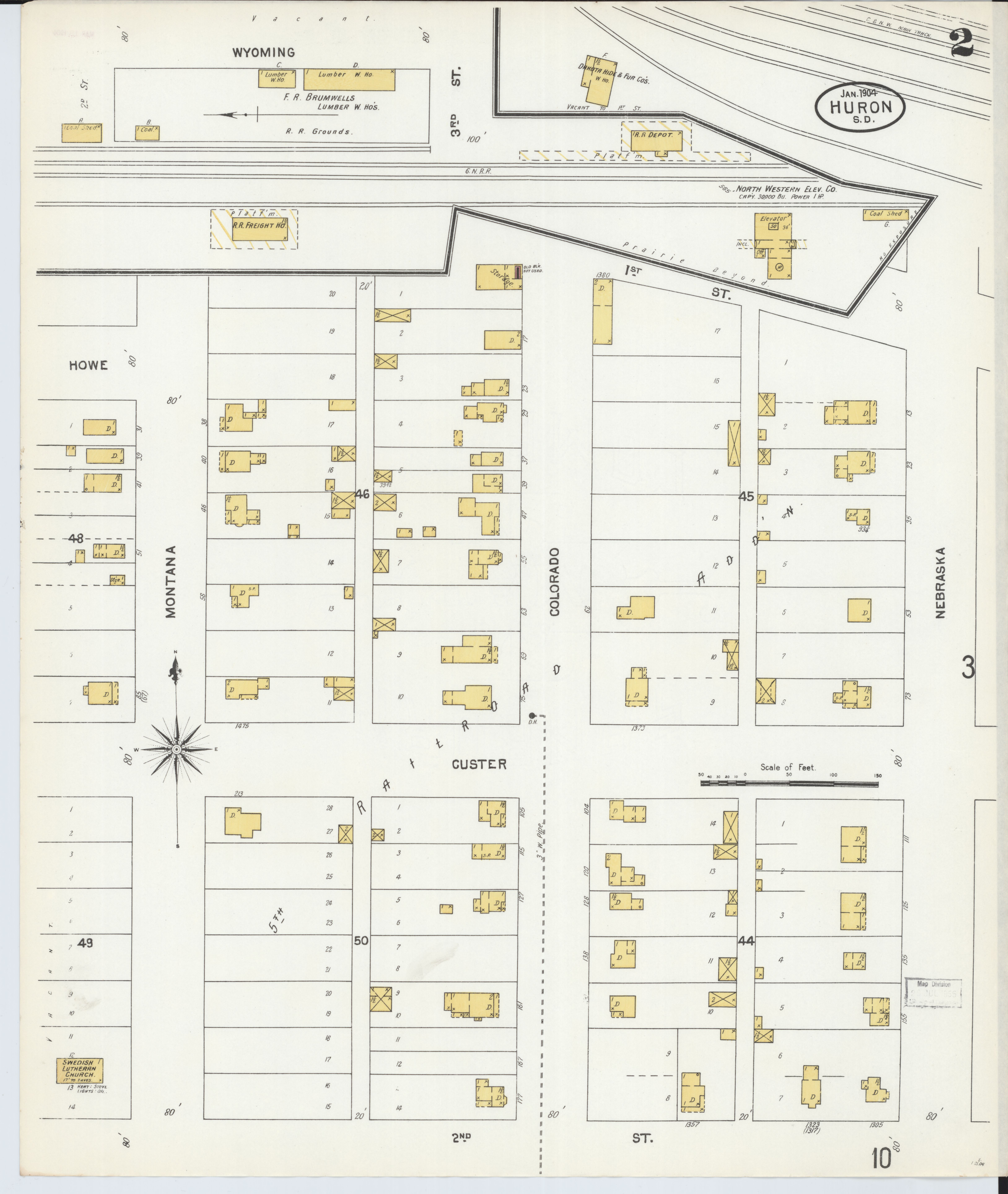 File:Sanborn Fire Insurance Map from Huron, Beadle County