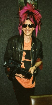 Tony James when a member of Sigue Sigue Sputnik, in San Francisco, 1986