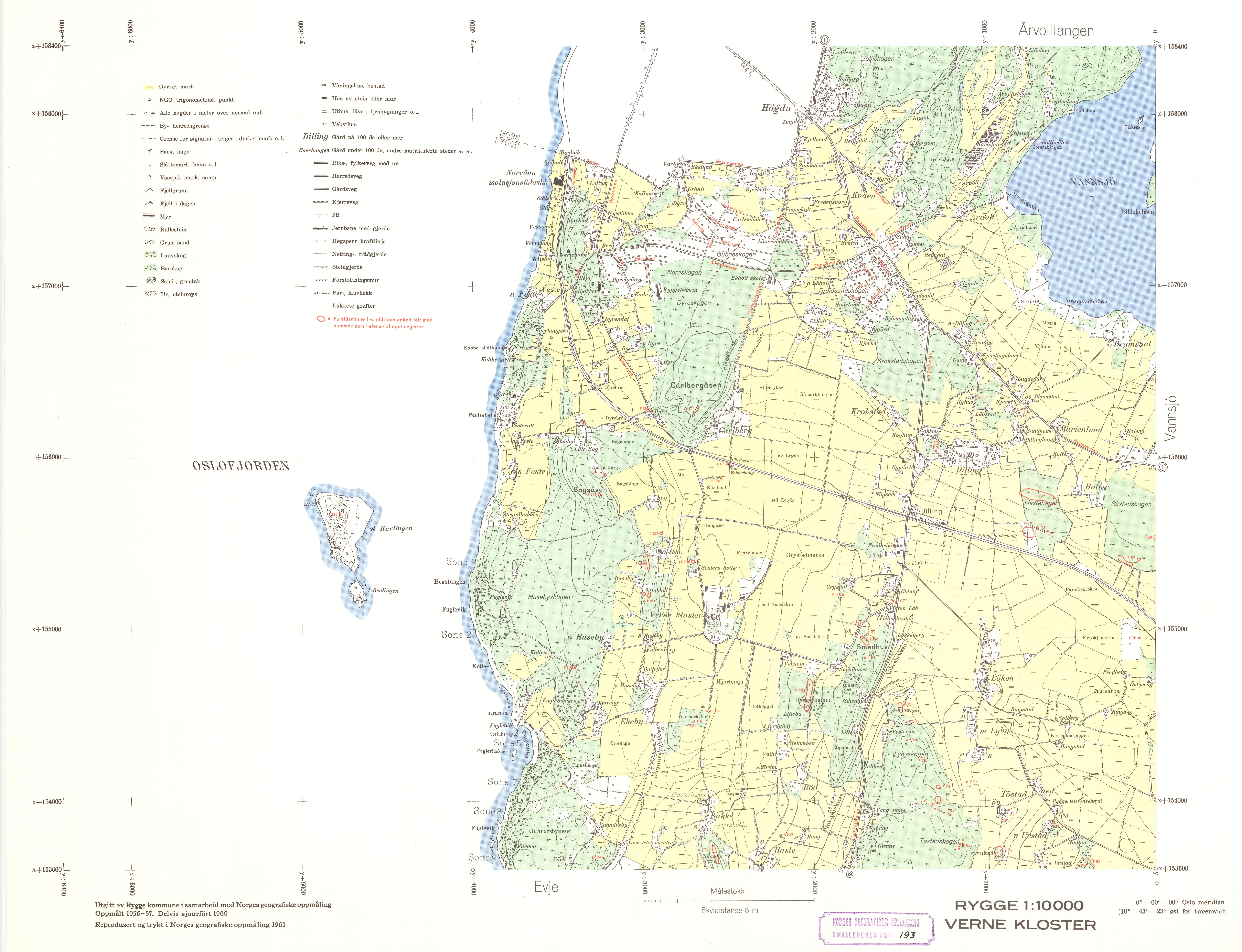 kart over rygge File:Smålenenes amt nr 193 2  Kart over Rygge; Verne kloster, 1961  kart over rygge