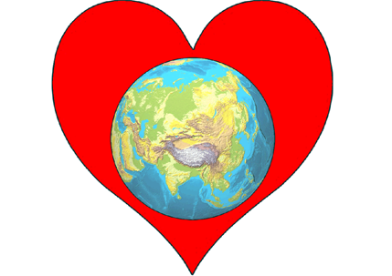 Heart Planet Earth