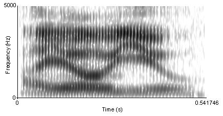 "Though the phrase ""I owe you"" can be heard as three distinct words, a spectrogram reveals no clear boundaries. Spectrogram of I owe you.png"