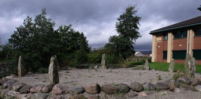 Standing Stones of Broadwood Loch - geograph.org.uk - 1508082