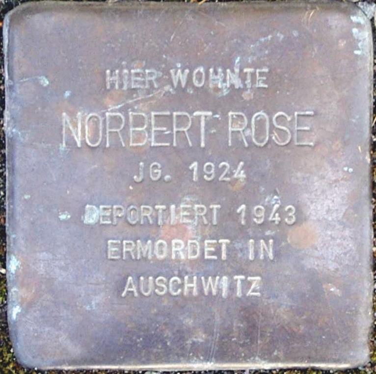 Stolperstein Rose, Nobert.jpg