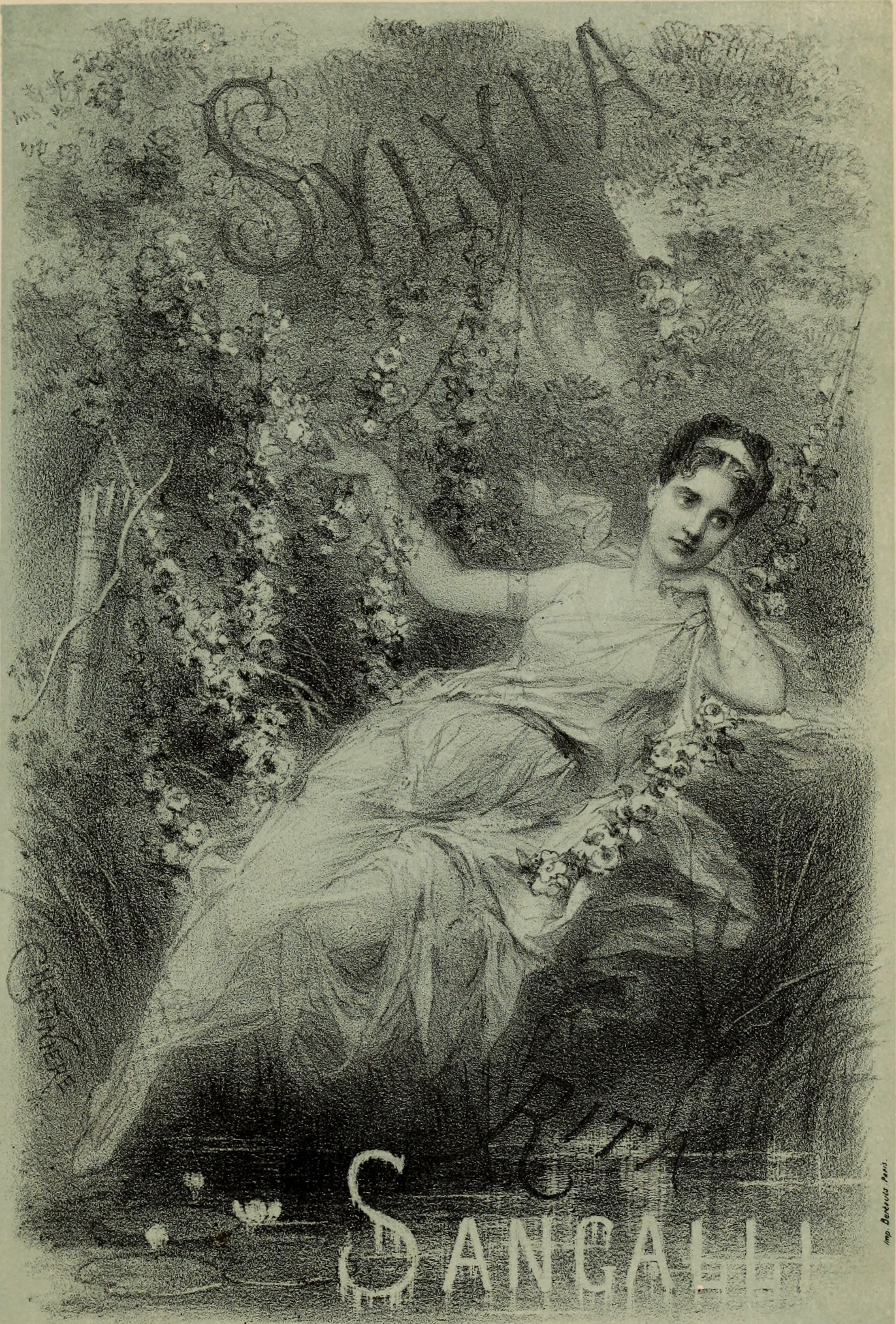 Illustration of Rita Sangalli as imagined as Sylvia at the premiere of the Paris Opera Ballet in 1876