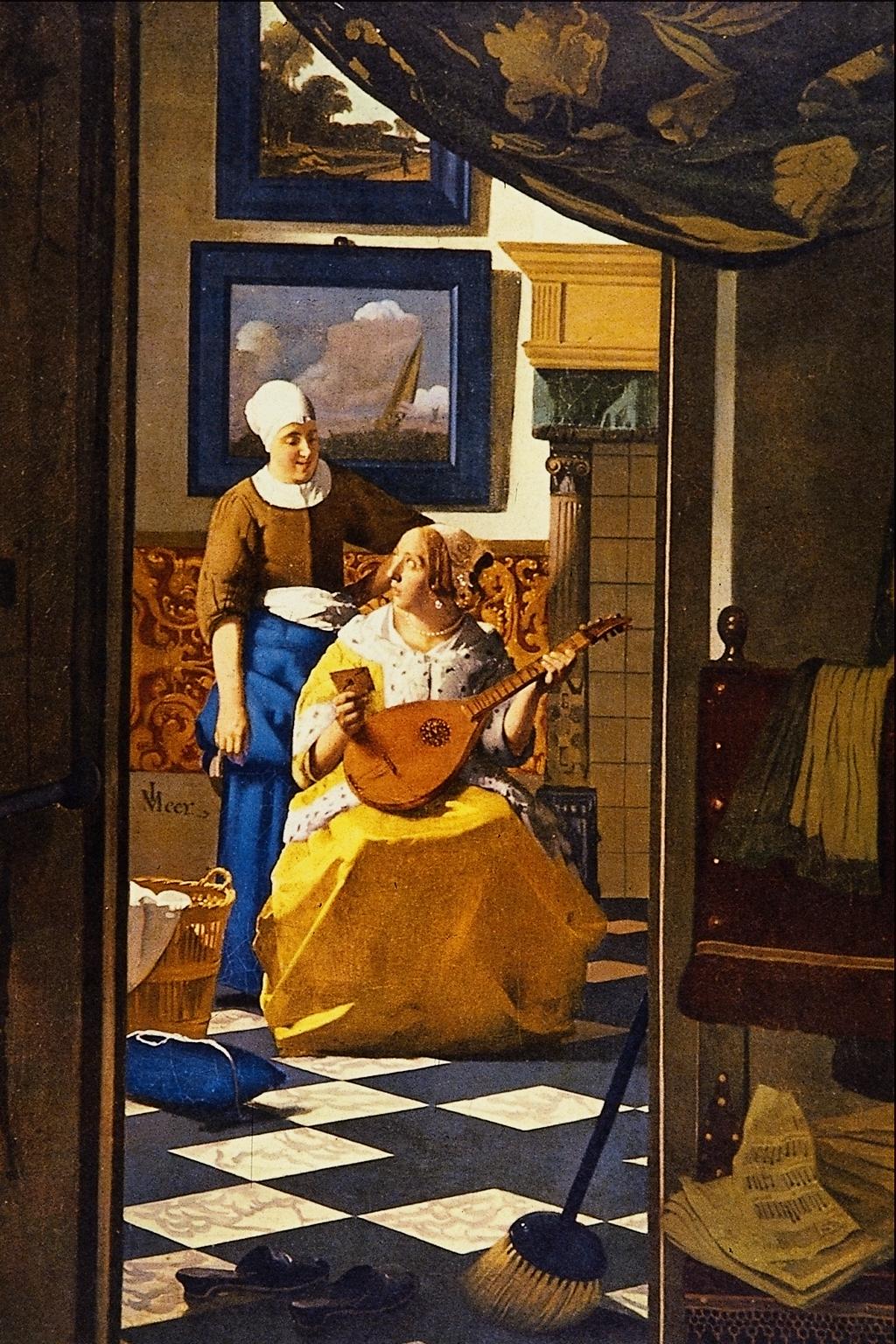 File the love letter jan vermeer van for The art of painting