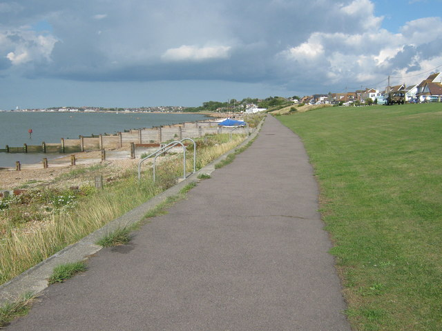 The Saxon Shore Way heads towards Whitstable - geograph.org.uk - 1420621