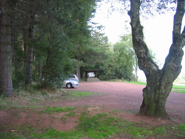 Thrunton Wood Car Park and information board - geograph.org.uk - 229247