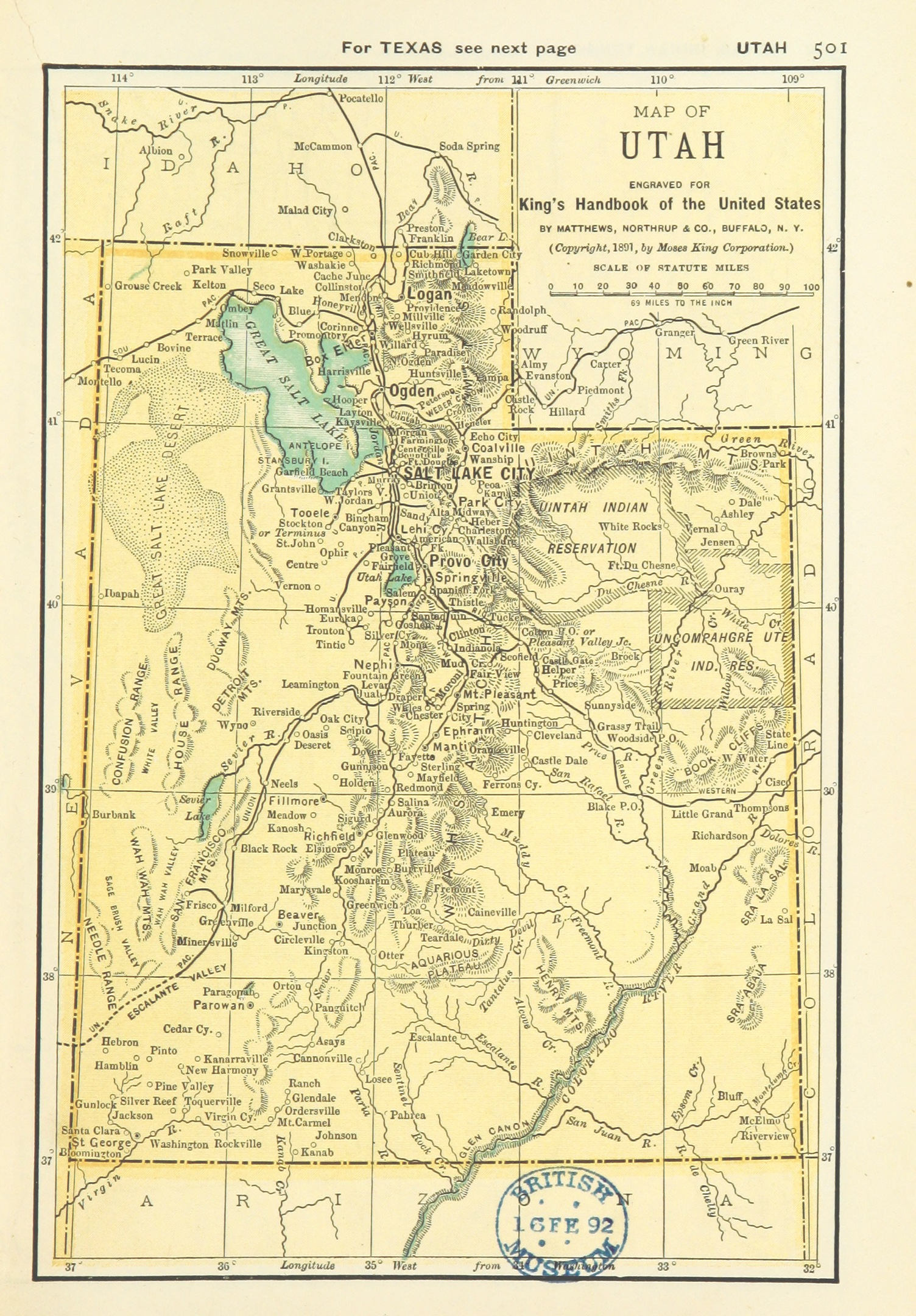 file us maps 1891 p503 map of utah jpg