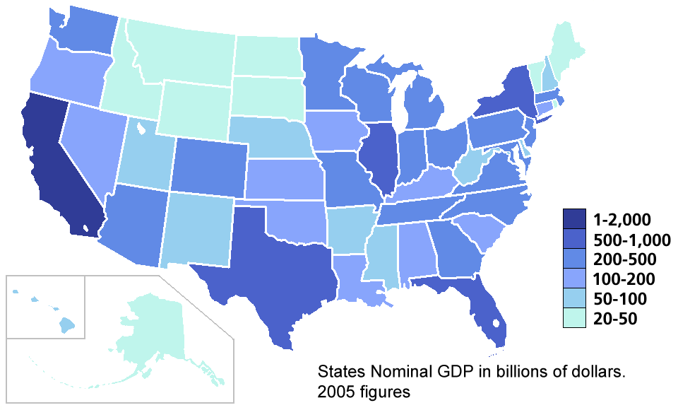 Map Of Of US States GDP And Other Countries Business Insider Map