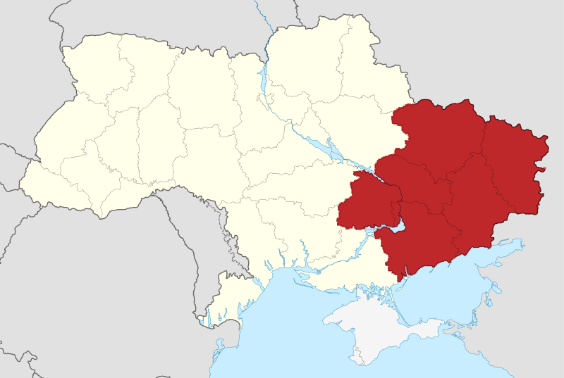 File Ukraine Location Map Eastern Ukraine Png Wikimedia Commons