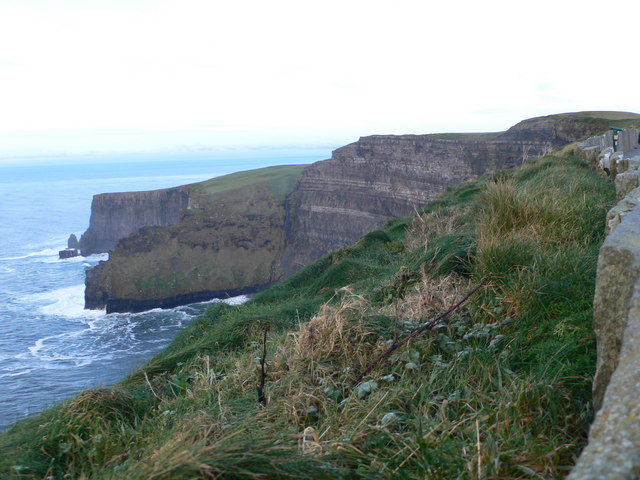 View north-eastward from O'Brien's Tower on the Cliffs of Moher - geograph.org.uk - 1609549