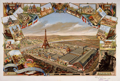 View of the World's Fair, Paris, France, 1889 (engraving)