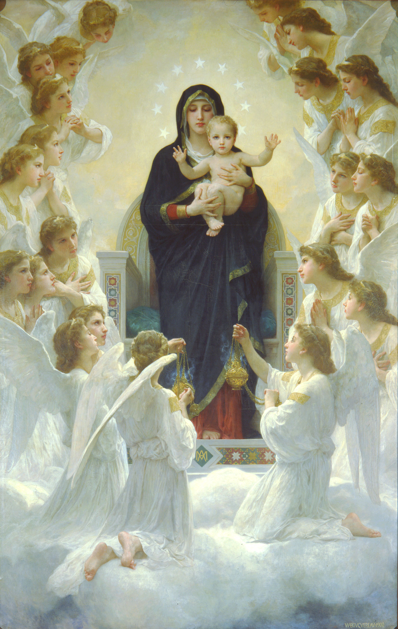 File:William-Adolphe Bouguereau The Virgin With Angels.jpg ...