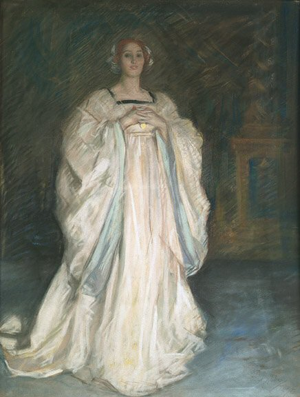 An image of a woman in a white dress by EA Austin, since Chillingham Castle counts a woman in white among its many spectral inhabitants.