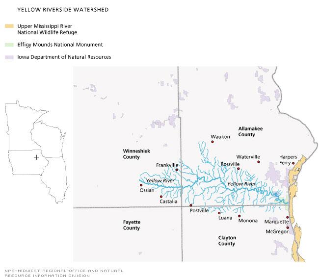Yellow River Iowa Wikipedia - Iowa river map