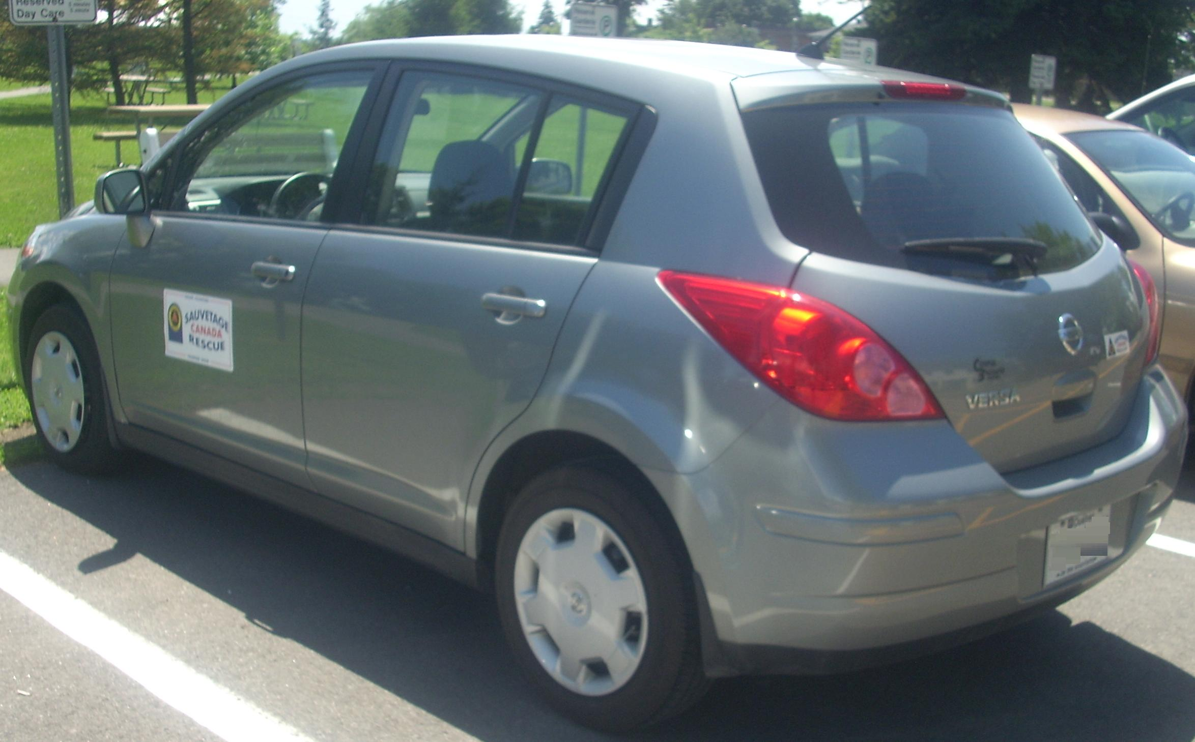 Nissan Of Bellevue >> File:'07-'09 Nissan Versa Hatchback -- Rear (Ste. Anne De Bellevue Veteran's Hospital '10).jpg ...