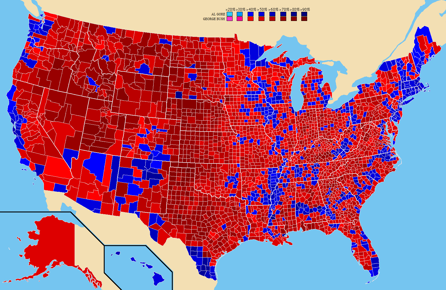 2000 county map