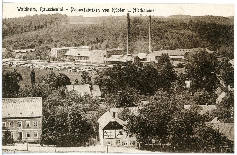 Kübler Und Niethammer file:20466-waldheim-1917-rauschental, papierfabriken von kübler und