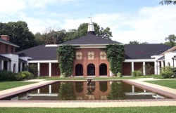Reflecting Pool and Cloister at The Avery Coon...