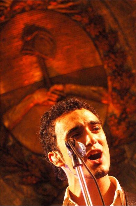 Abel Pintos en recital en Casa Rosada